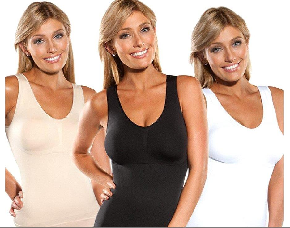 Cami Shaper by Genie Body Bra Pad Instant Slim (M black OR XL brown )