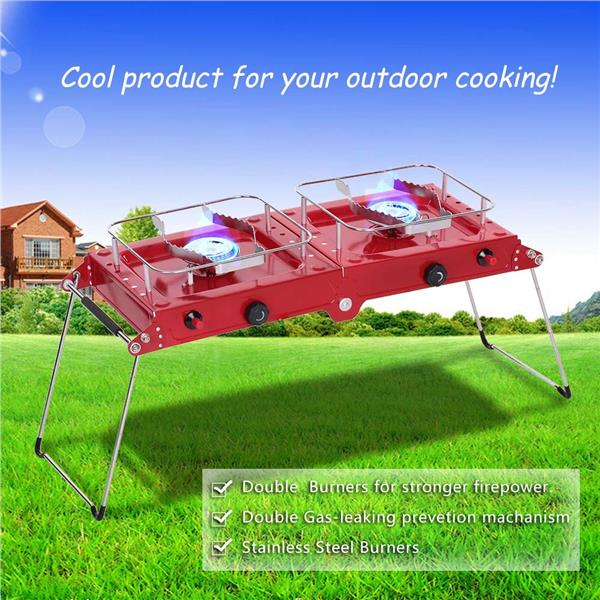 Camping Gas Stove Outdoor Cooking Heater Gasoline Stove