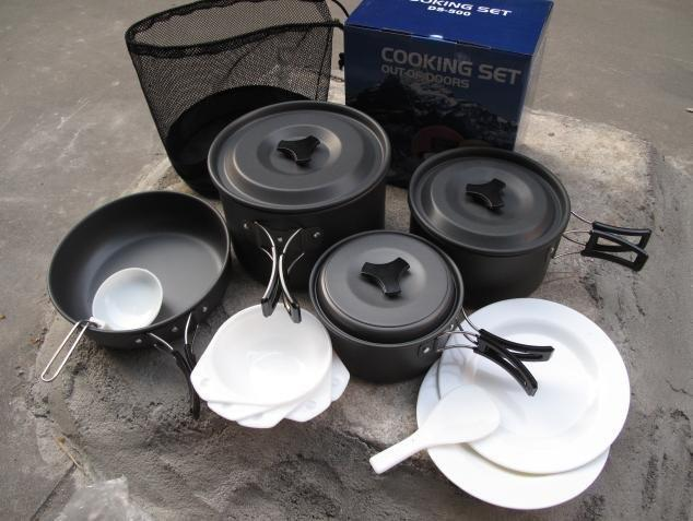 Camping Outdoor 5 Persons Cooking Set