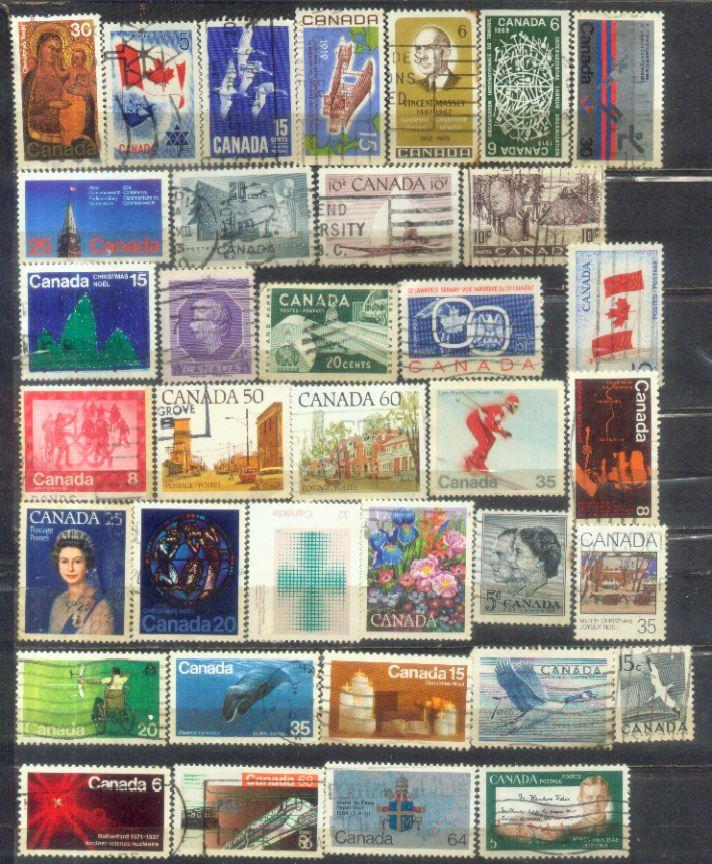 Canada 36 Nice Stamps