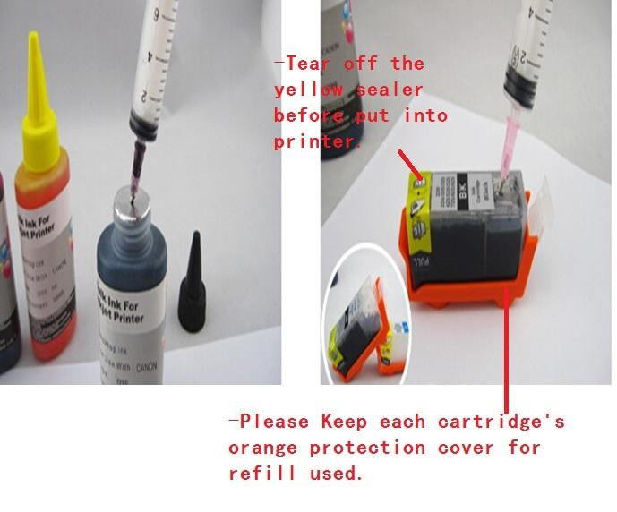 Canon 750/751 Refillable Cartridge with Ink MG5570 MG5670 750 751