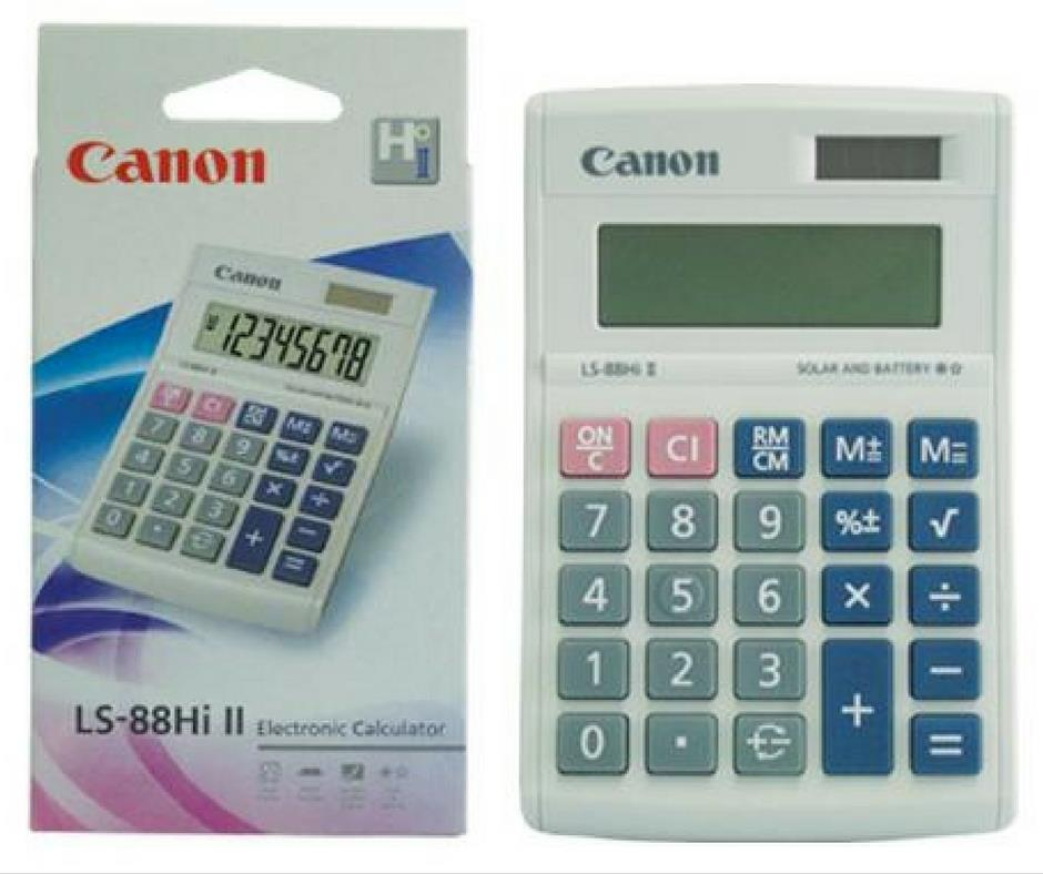Canon 8 Digit Electronic Calculator LS-88Hi II