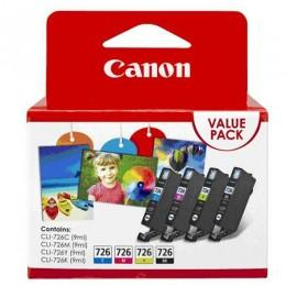 Canon CLI-726 Value Pack - Black + Cyan + Magenta + Yellow