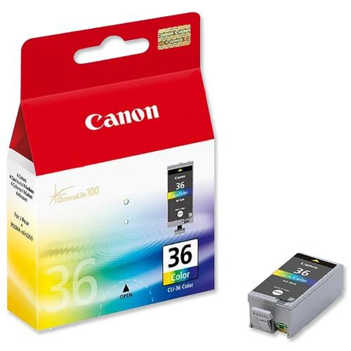 CANON COLOR INK CARTRIDGE FOR IP100, CLI-36