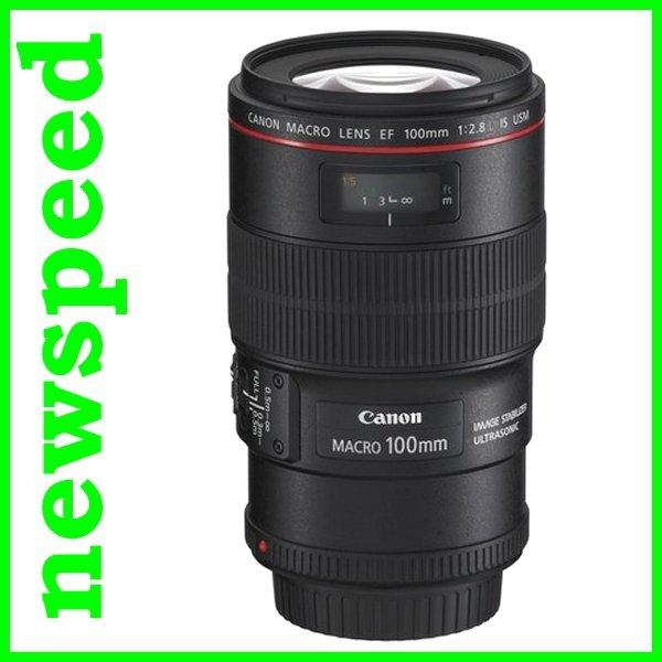 New Canon EF100mm EF 100mm F2.8L Macro IS USM Lens (Canon MSIA)