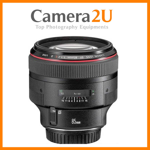 New Canon EF85mm EF 85mm F1.2 L II USM Lens (Canon MSIA)