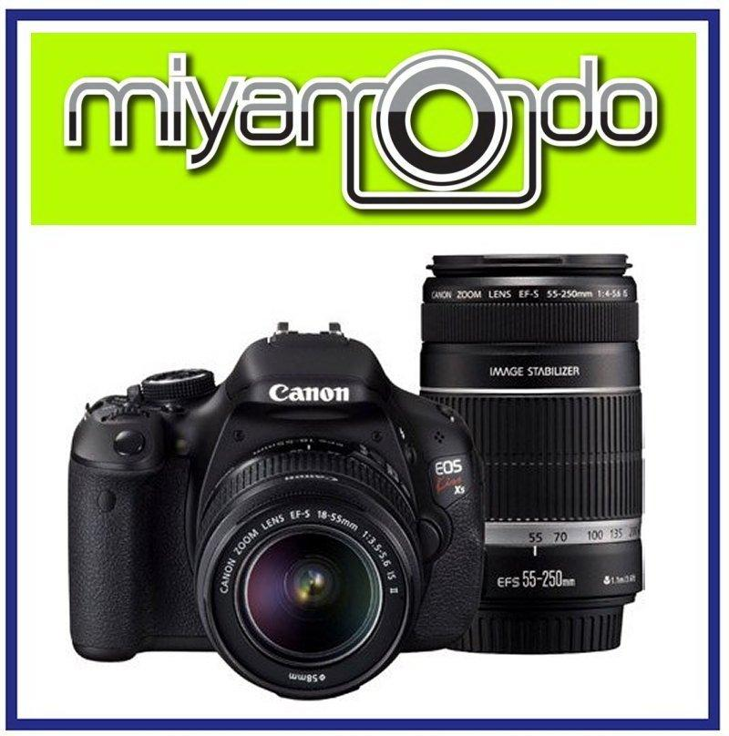 NEW Canon EOS 600D DSLR With 18-55mm + 55-250mm Twin Lens + 8GB + Bag
