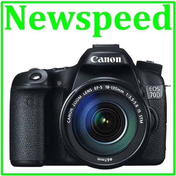 Canon EOS 70D 18-135mm IS STM Digital DSLR Camera +8GB+Bag(Canon MSIA)