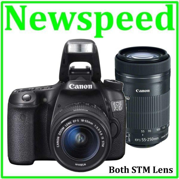 Canon EOS 70D 18-55mm STM + 55-250mm STM Twin Lens +8GB+Bag