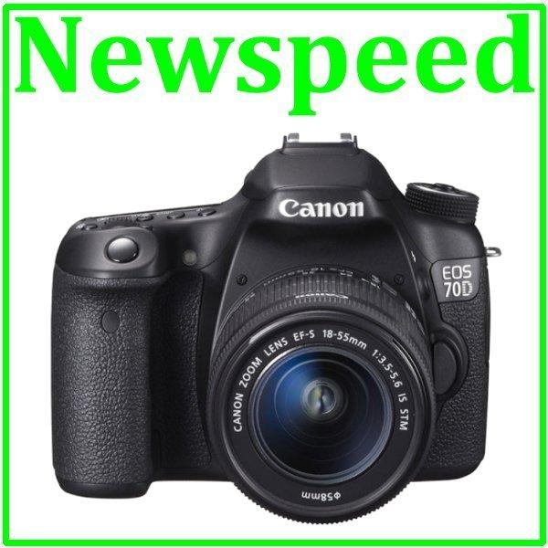 Canon EOS 70D 18-55mm IS STM Digital DSLR Camera +8GB+Bag (Canon MSIA)