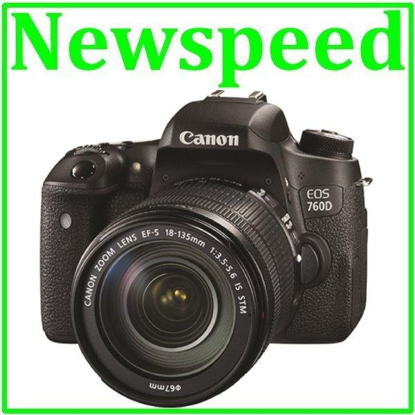 Canon EOS 760D + 18-135mm STM Lens Digital Camera +8GB+Bag (MSIA)