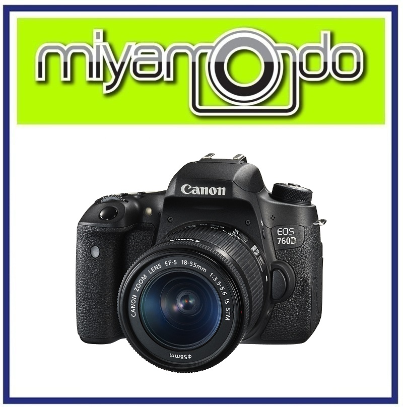 NEW Canon EOS 760D DSLR Camera With 18-55mm IS STM Lens + 8GB + Bag