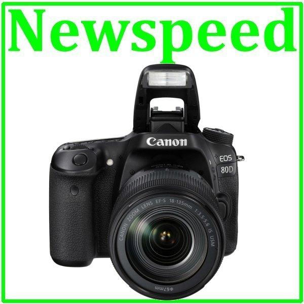 Canon EOS 80D 18-135mm IS USM Lens +16GB+Bag+CS100 (Canon MSIA)