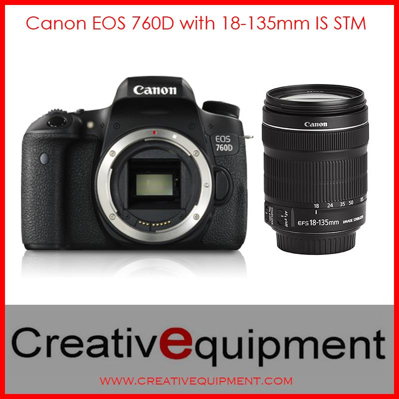 Canon EOS DSLR 760D + EF-S 18-135mm IS STM *Canon Malaysia Warranty*