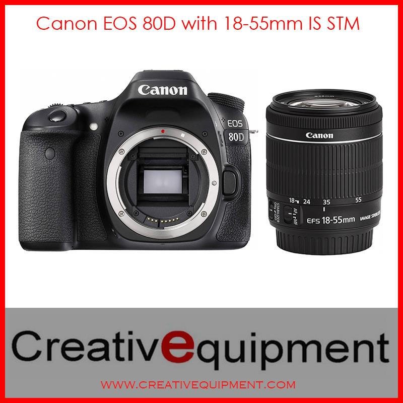 Canon EOS DSLR 80D + EF-S 18-55mm IS STM *Canon Malaysia Warranty*