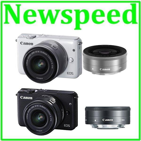 Canon EOS M10 15-45mm + 22mm F2 STM Twin Lens +8GB+Bag (Canon MSIA)