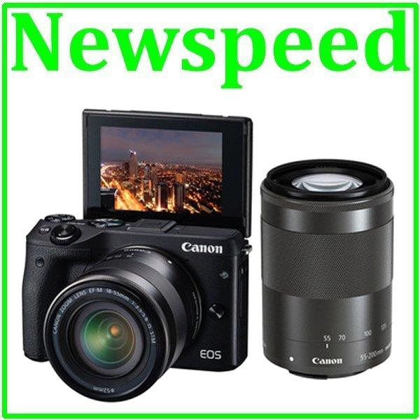 Canon EOS M3 18-55mm + 55-200mm Twin Lens +8GB+Bag