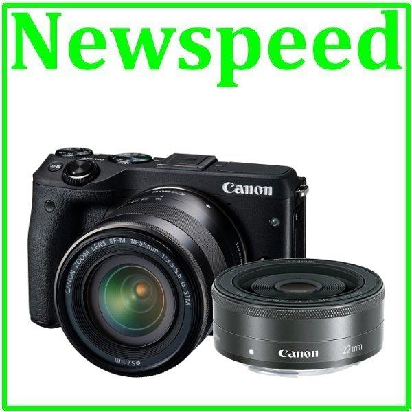 Canon EOS M3 18-55mm IS STM + 22mm F2 STM Lens +8GB+Bag