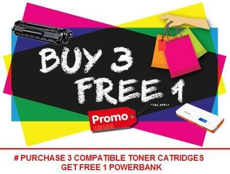 Canon EP-25 Black : Buy 3 Free 1 Powerbank Pineng Original