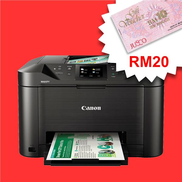 CANON MAXIFY MB5170 Inkjet Color Printer *FREE RM20 AEON*