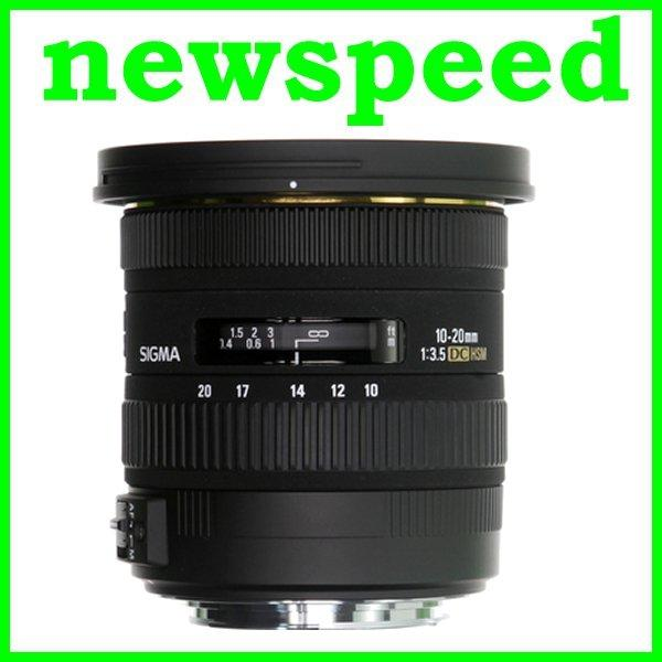 New Canon Mount Sigma 10-20mm F3.5 EX DC HSM Lens