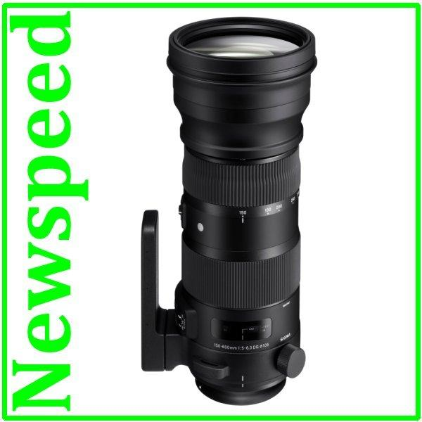 New Canon Mount Sigma 150-600mm F5-6.3 DG OS HSM Sport Lens (Import)
