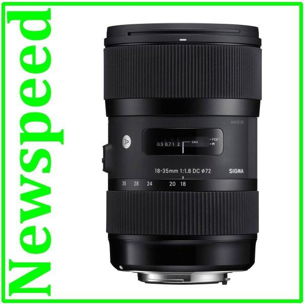 New Canon Mount Sigma 18-35mm F1.8 DC HSM Art Lens (2 yr wrty)