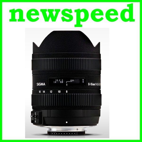 New Canon Mount Sigma 8-16mm F4.5-5.6 DC HSM Lens