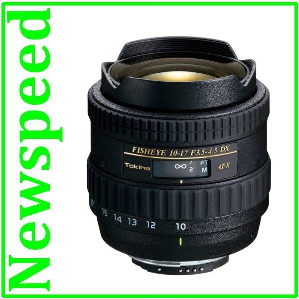 New Canon Mount Tokina AT-X 107 AF 10-17mm F3.5-4.5 DX Fisheye Lens