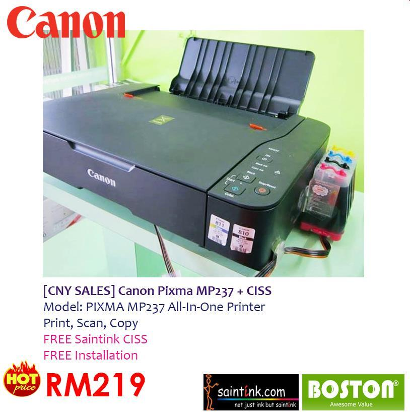 Printer Canon Mp237 Canon Mp237 All in One Injet