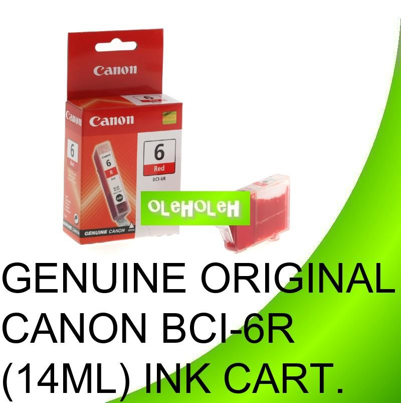 Canon Original BCI-6R RED BCI-6G GREEN BCI6R BCI6G Ink Cartridge