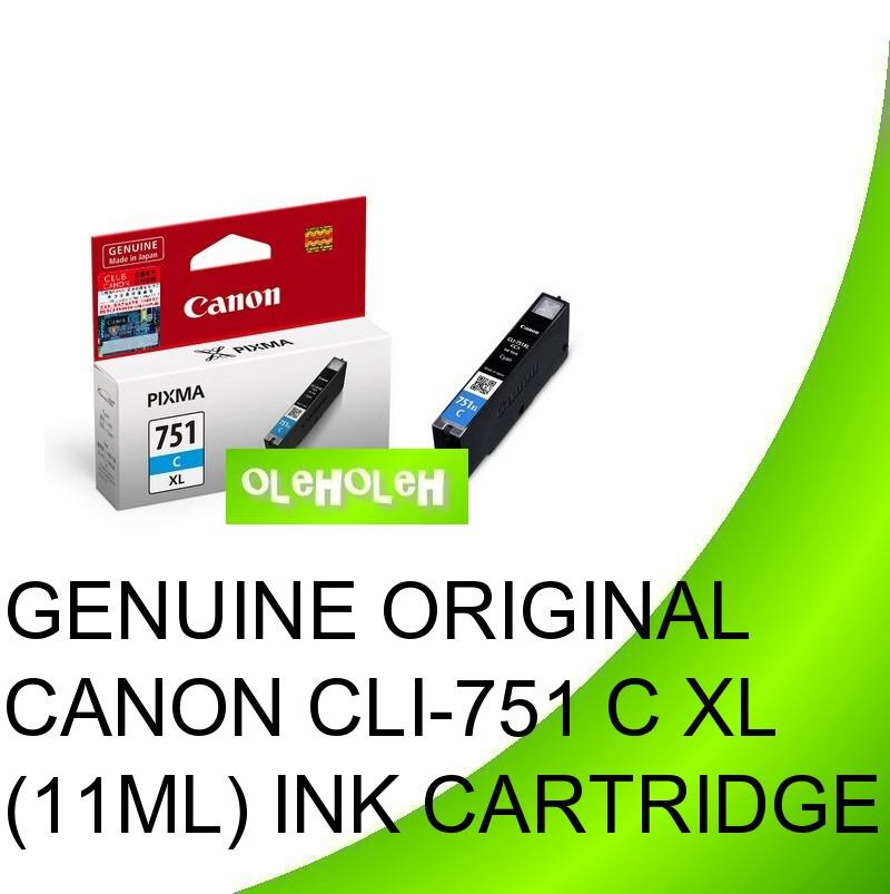 Canon Original CLI-751XL CYAN BLACK CLI-751 XL Ink Cartridge