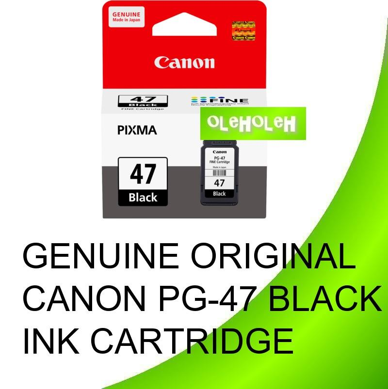 CANON Original PG-47 PG47 Black INK CARTRIDGE E400 E460 E480