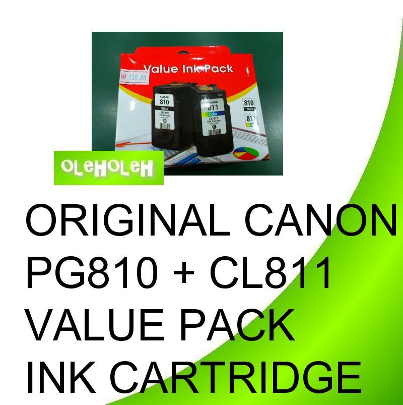 Canon Original PG-810 + CL-811 VALUE PACK PG810 CL811 Ink Cartridge