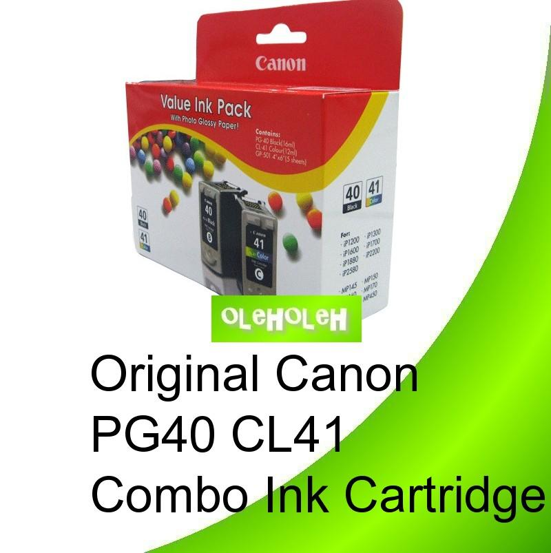 Canon Original PG40 + CL41 Combo Value Pack Ink Cartridges