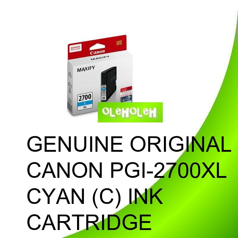 Canon Original PGI-2700XL PGI-2700 XL Cyan Magenta Yellow Ink Cart.