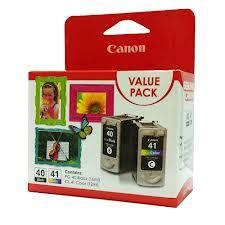 CANON PG-40 Black + CL-41 Colour VALUE PACK (Genuine) PG40 CL41 40 41