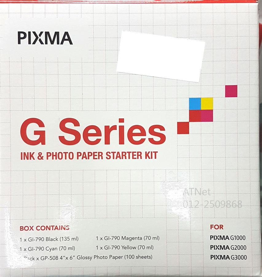 CANON PIXMA G SERIES INK & PHOTO PAPER STARTER KIT G1000 G2000 G3000