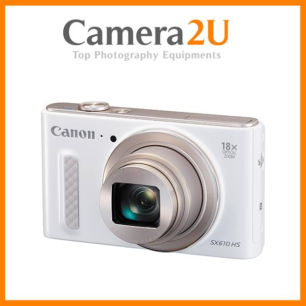 NEW Canon PowerShot SX610 (White) + 32GB + Case