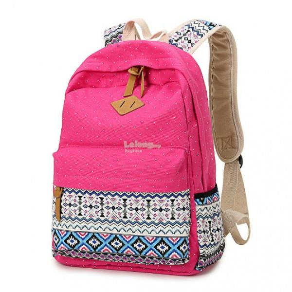 Canvas Casual High School Backpack [5 colours]