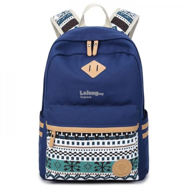 Canvas WAVY Pattern Backpack[3 colours]