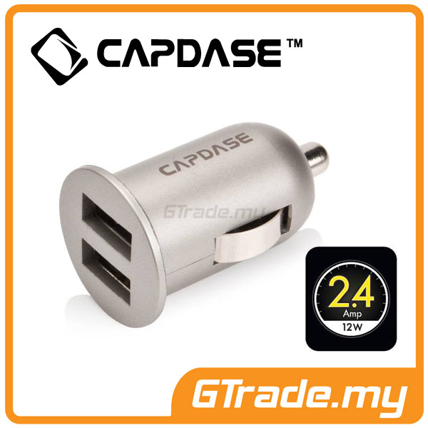 CAPDASE 2 USB Car Charger 2.4A K2X Apple iPhone 7 7S Plus