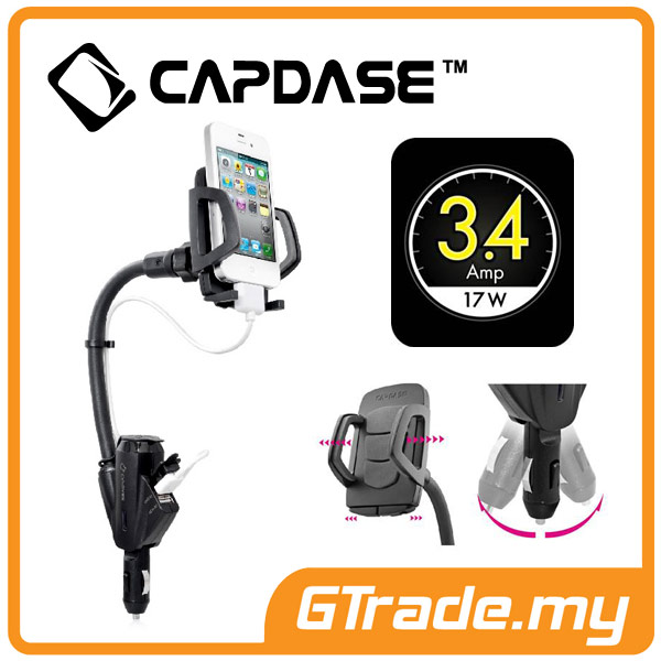 CAPDASE Car Charger Phone Holder 3.4A Samsung Galaxy Note 5 4 3 2