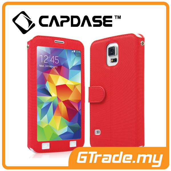 CAPDASE Folder Case Sider V-Baco Samsung Galaxy S5 Red