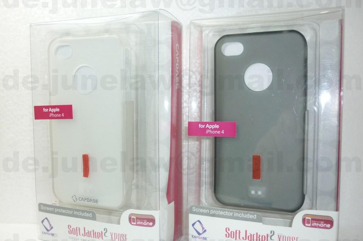 Capdase Soft Jacket  2 Xpose Soft TPU case for Apple Iphone 4 iphone .