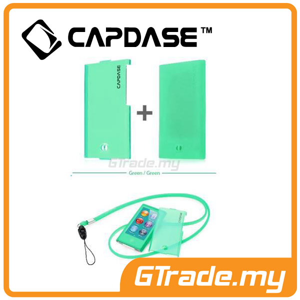 CAPDASE Soft Jacket Value Set Case | Apple iPod Nano 7 - Tinted Green