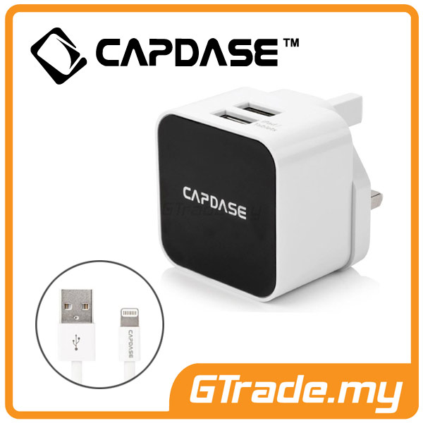 CAPDASE USB Charger 2A+Lightning Cable Apple iPhone 7 7S Plus