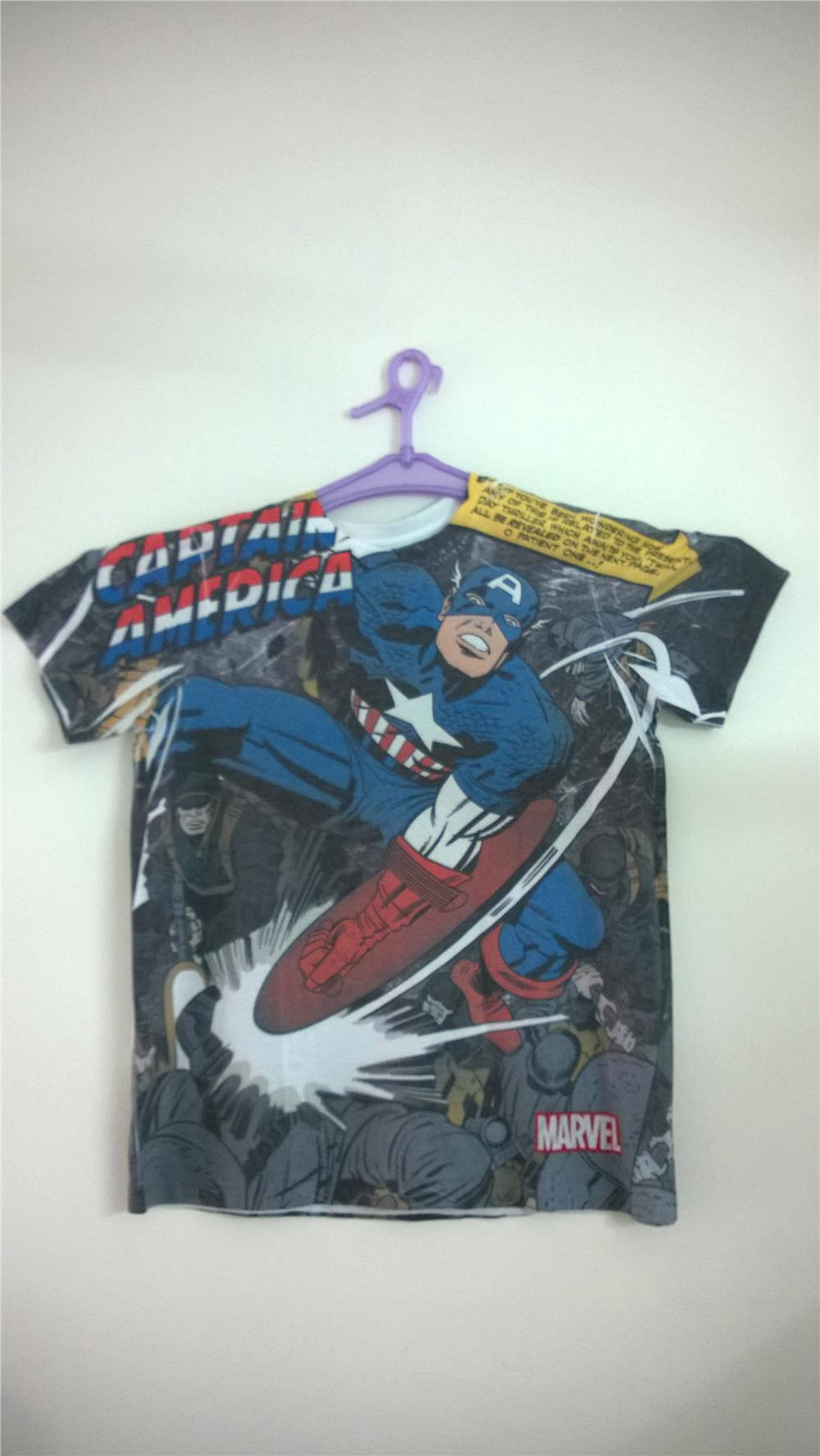 Captain America Shirt 1 (Kapten Amerika)(Baju Super Hero)
