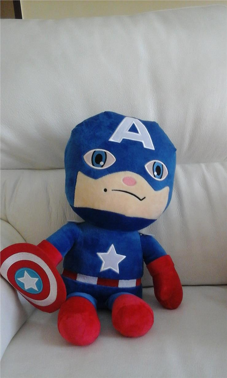 "captain america soft toy 17"" high"