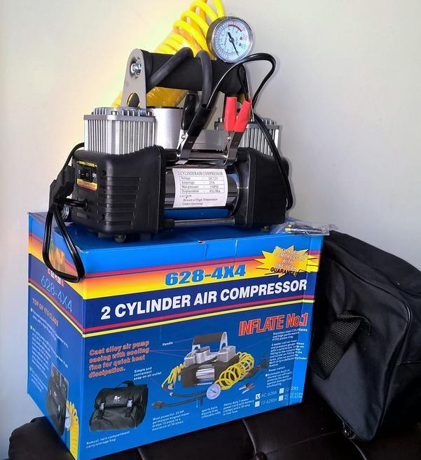 Car Air Compressor Tyre Inflator -Double Cylinder
